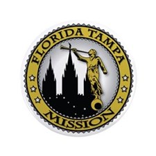 "Florida Tampa LDS Mission Angel Moroni 3.5"" Button"