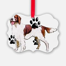 red and white setter Ornament