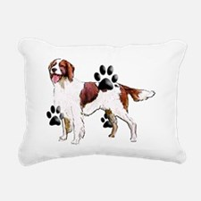 red and white setter Rectangular Canvas Pillow