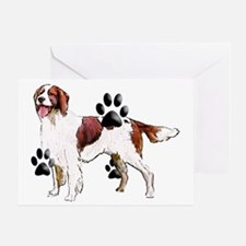 red and white setter Greeting Card