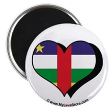 "I Love Central African Republic 2.25"" Magnet (100"