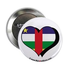 "I Love Central African Republic 2.25"" Button (100"