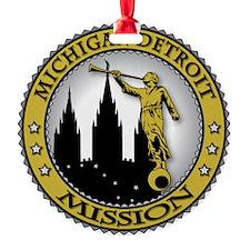 Michigan Detroit LDS Mission Angel  Ornament