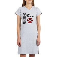 D Rescue Dog Mom 2 Women's Nightshirt