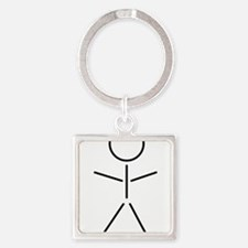 pull yourself Square Keychain