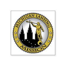 "Michigan Lansing LDS Missio Square Sticker 3"" x 3"""