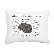 atlas of a dentists brai Rectangular Canvas Pillow