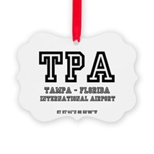 AIRPORT CODES - TPA - TAMPA, FLOR Ornament