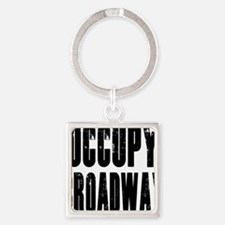 Occupy-Broadway-Front Square Keychain