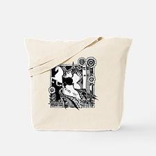 jr._jersey_t-shirt_10x10_horse_black Tote Bag