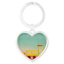 HAPPY TRAIN OF THOUGHT logo-3 Heart Keychain