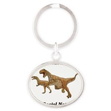 It Wasnt An Asteroid Oval Keychain
