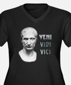 Veni vidi vi Women's Plus Size Dark V-Neck T-Shirt