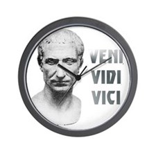 Veni vidi vici white Wall Clock