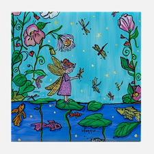 Dragonfly Fairies Tile Coaster