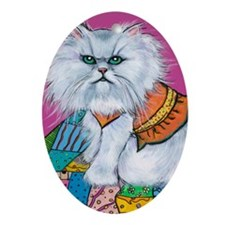 Persian Cat Morrison Oval Ornament