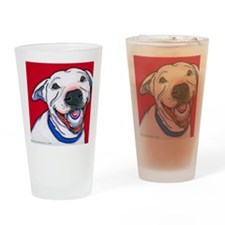 Pit Bull Addy Drinking Glass