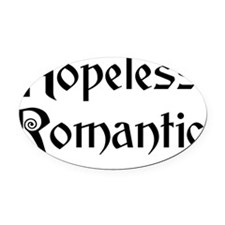 hopelessromantic Oval Car Magnet