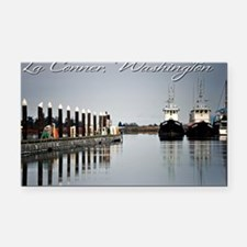 Boats of La Conner © AD Rich Rectangle Car Magnet