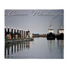 Boats of La Conner © AD Richards 00 Throw Blanket