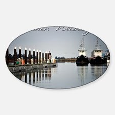 Boats of La Conner © AD Richards 0 Sticker (Oval)