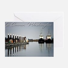 Boats of La Conner © AD Richards 00 Greeting Card