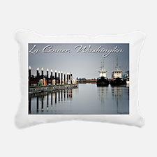 Boats of La Conner © AD Rectangular Canvas Pillow