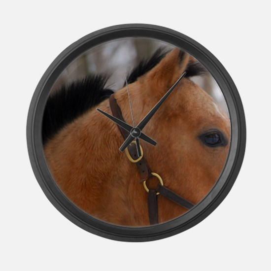 Quarter Horse Large Wall Clock