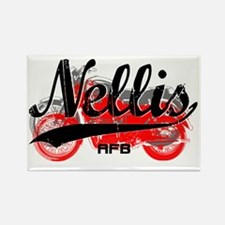 Nellis Nevada AFB_Motorcycle_Scri Rectangle Magnet