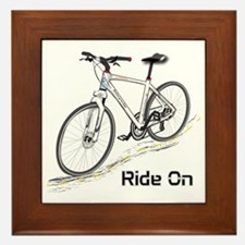 Three-Quarter View Bicycle Framed Tile