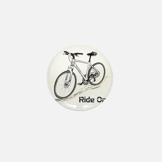 Three-Quarter View Bicycle Mini Button