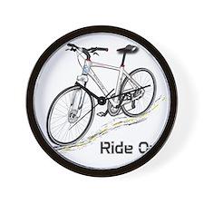 Three-Quarter View Bicycle Wall Clock