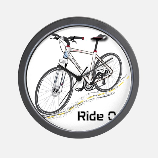 Three-Quarter View Bicycle Wall Clock