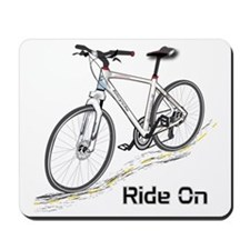 Three-Quarter View Bicycle Mousepad