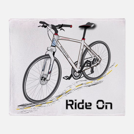 Three-Quarter View Bicycle Throw Blanket