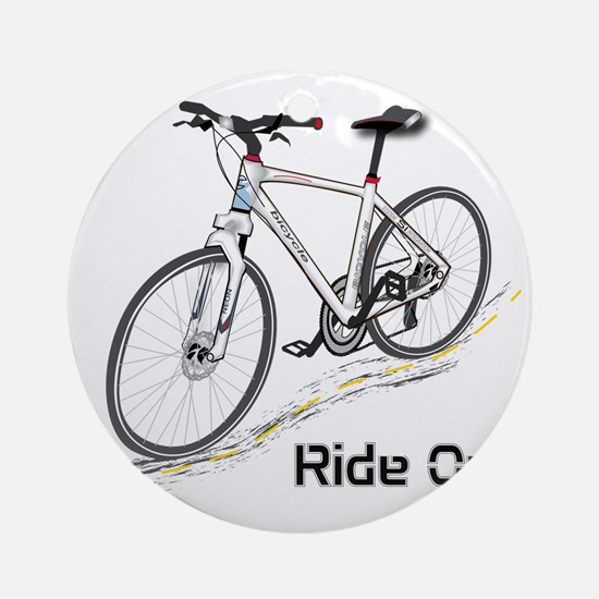 Three-Quarter View Bicycle Round Ornament