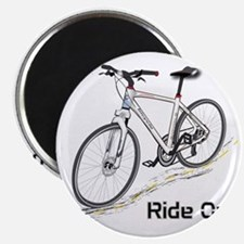 Three-Quarter View Bicycle Magnet