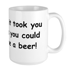 Beer in the timebutton Mug