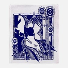 womens_cap_sleeve_t-shirt_8x10_horse Throw Blanket