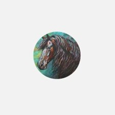 Zelvius the Friesian horse Mini Button