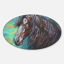 Zelvius the Friesian horse Decal