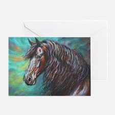 Zelvius the Friesian horse Greeting Card