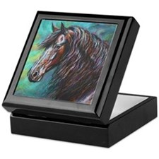Zelvius the Friesian horse Keepsake Box