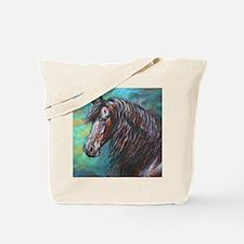 Zelvius the Friesian horse Tote Bag