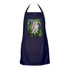 Pink and Bluebonnets Apron (dark)