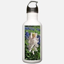 Pink and Bluebonnets Water Bottle