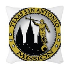 Texas San Antonio LDS Mission  Woven Throw Pillow