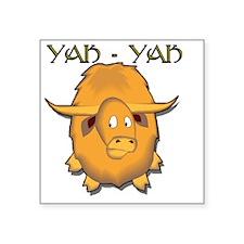 "yak Square Sticker 3"" x 3"""