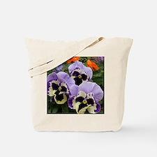 Happy Pansy Trio Tote Bag