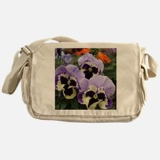 Happy Pansy Trio Messenger Bag
